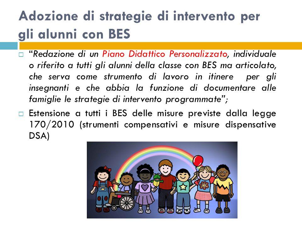 Adozione di strategie di intervento per gli alunni con BES