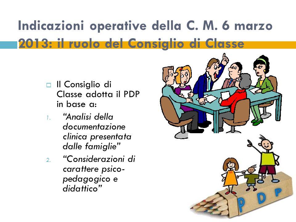 Indicazioni operative della C. M