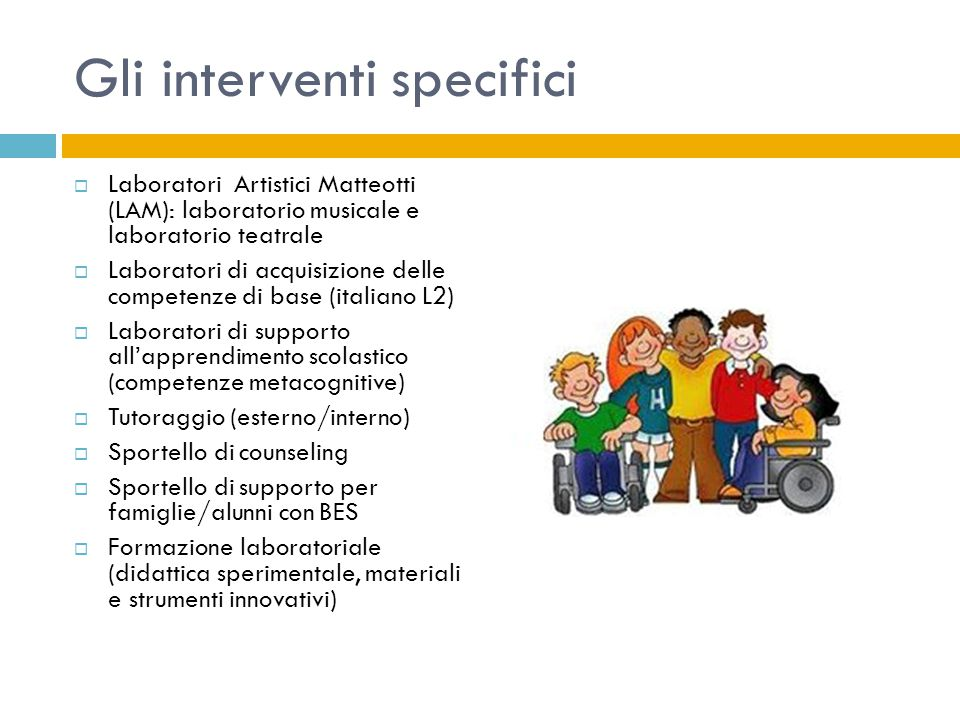 Gli interventi specifici