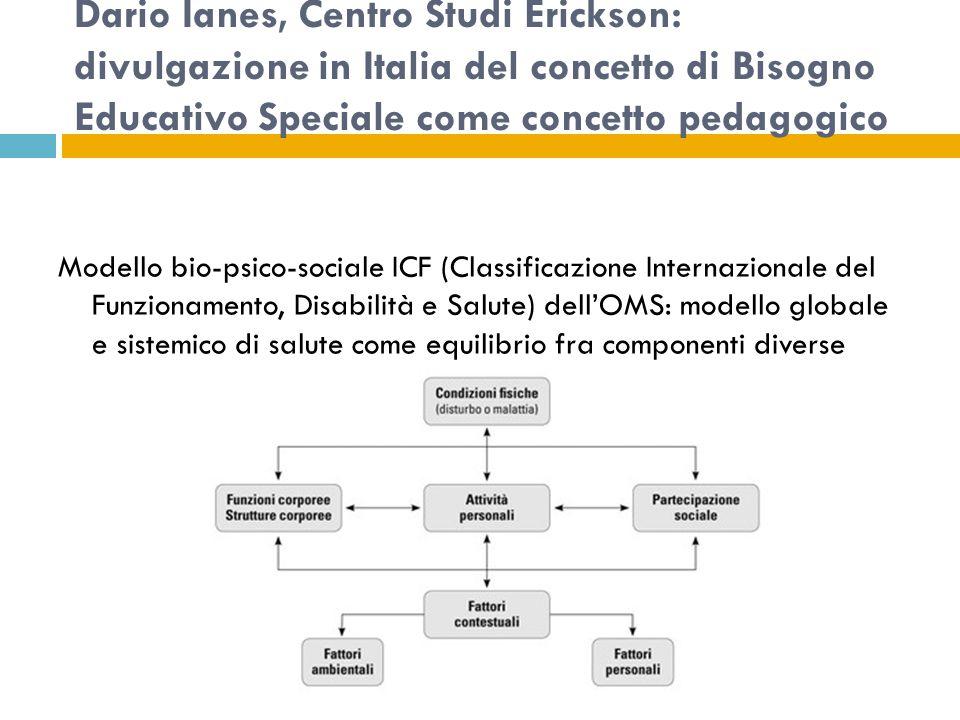 Dario Ianes, Centro Studi Erickson: divulgazione in Italia del concetto di Bisogno Educativo Speciale come concetto pedagogico