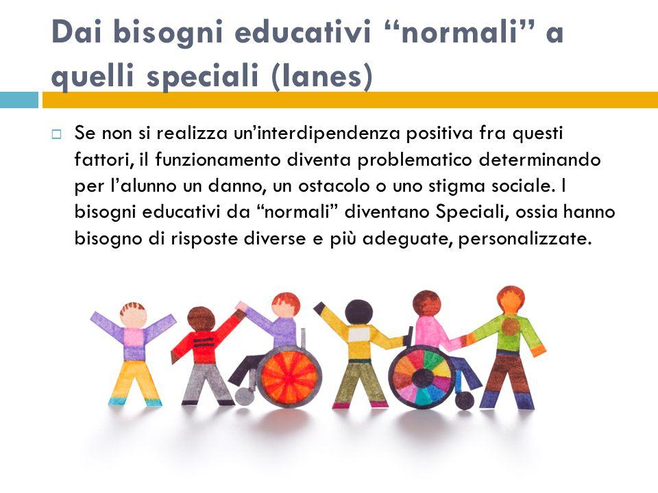 Dai bisogni educativi normali a quelli speciali (Ianes)