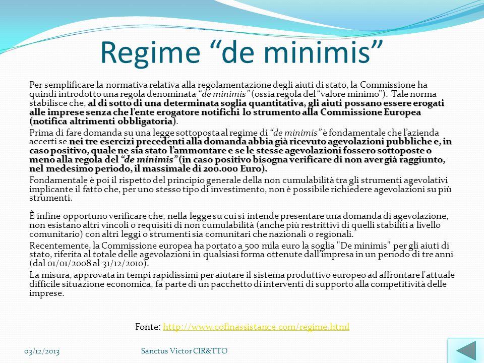 Regime de minimis