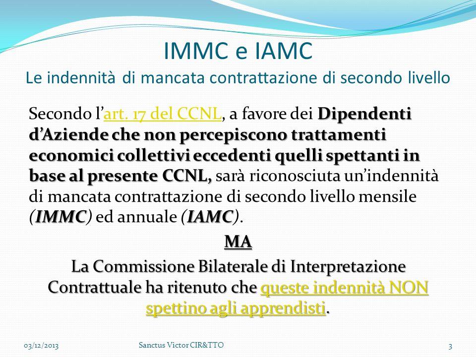 IMMC e IAMC Le indennità di mancata contrattazione di secondo livello