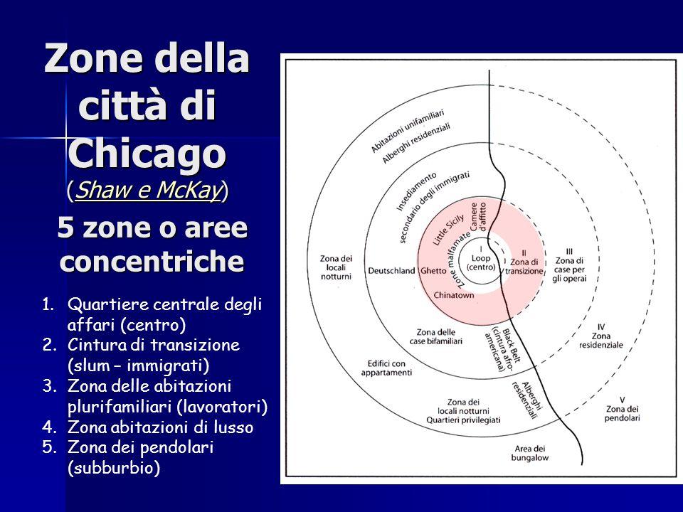 Zone della città di Chicago (Shaw e McKay)