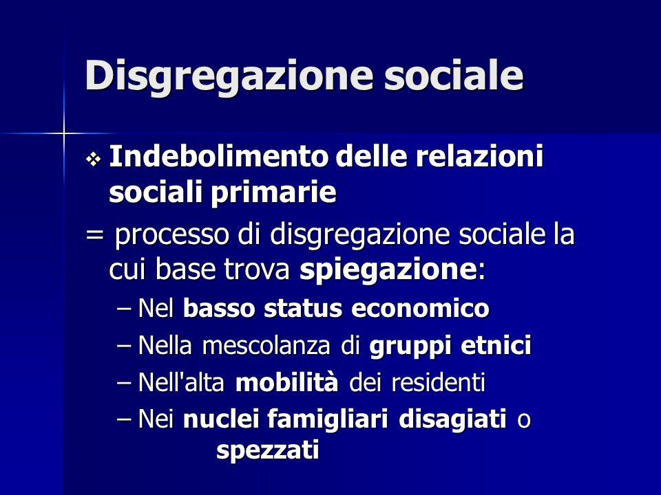 Disgregazione sociale