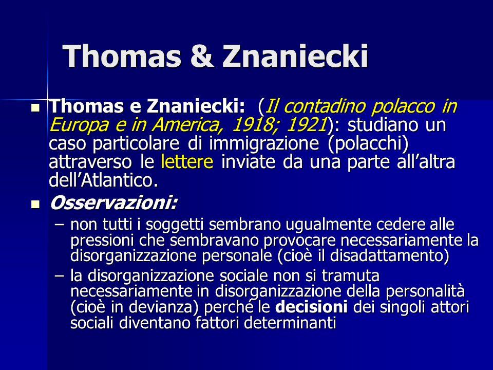 Thomas & Znaniecki