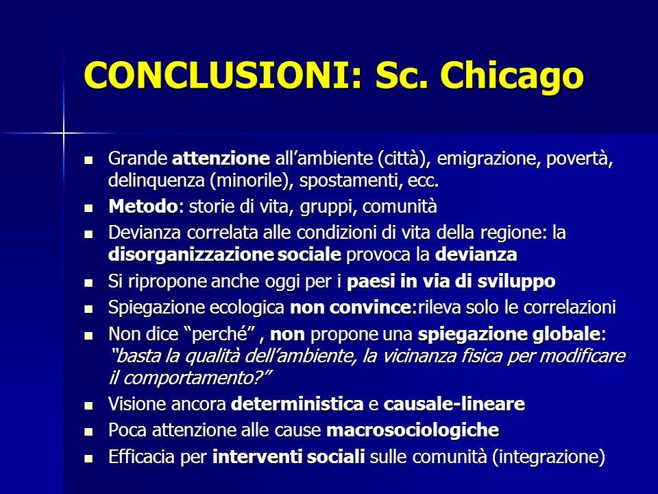 CONCLUSIONI: Sc. Chicago