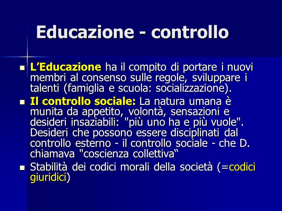 Educazione - controllo