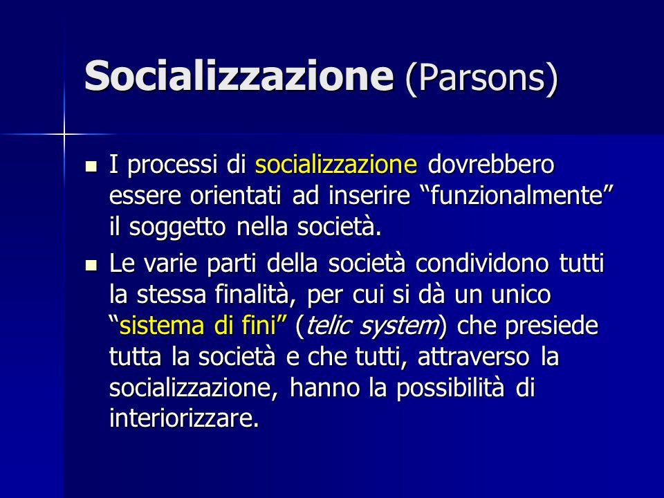 Socializzazione (Parsons)
