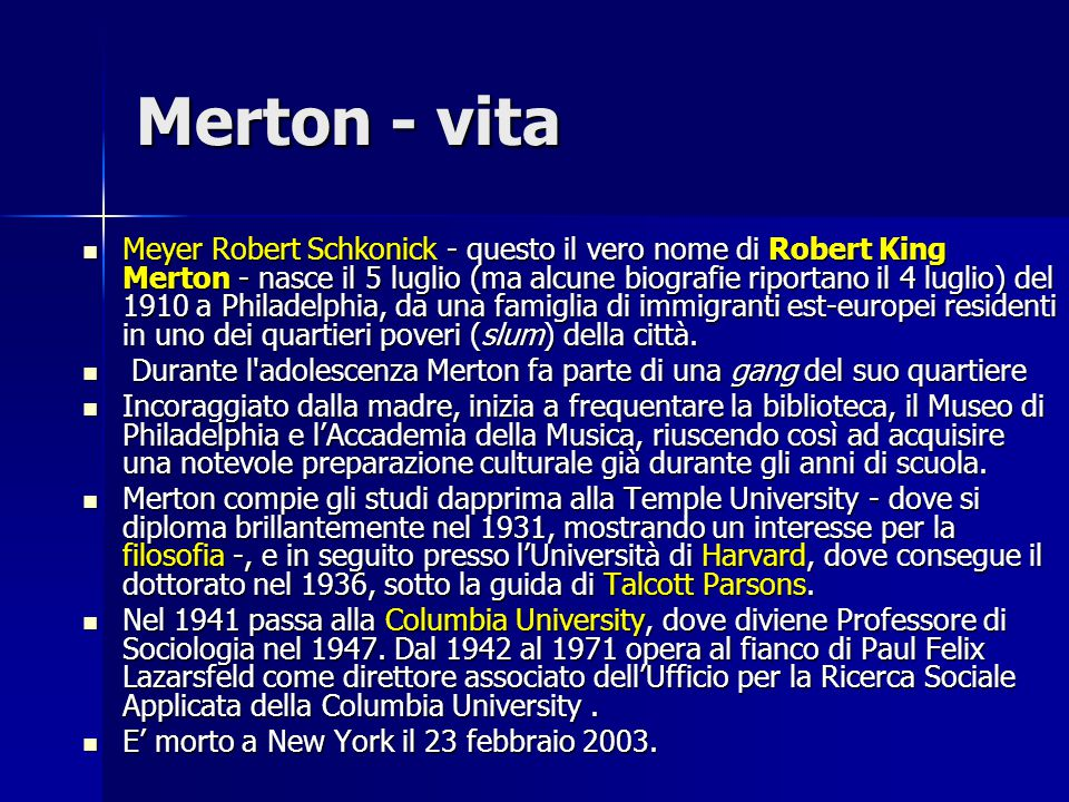 Merton - vita