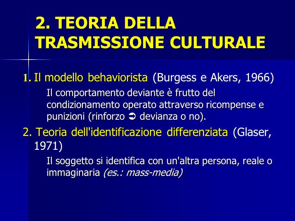 2. TEORIA DELLA TRASMISSIONE CULTURALE
