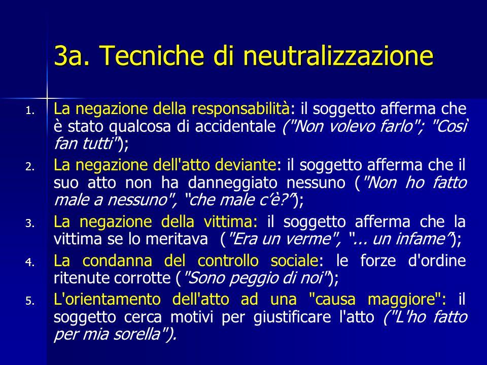 3a. Tecniche di neutralizzazione