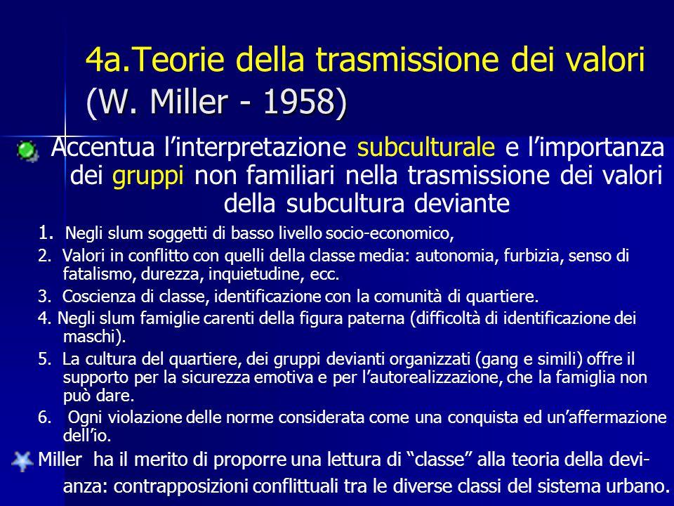 4a.Teorie della trasmissione dei valori (W. Miller - 1958)