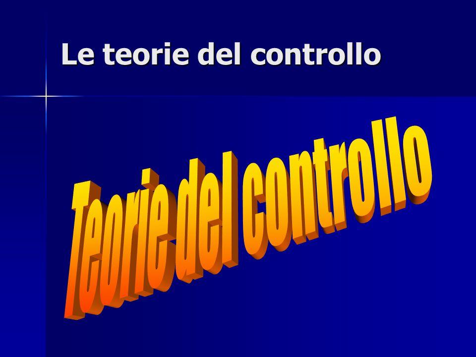 Le teorie del controllo