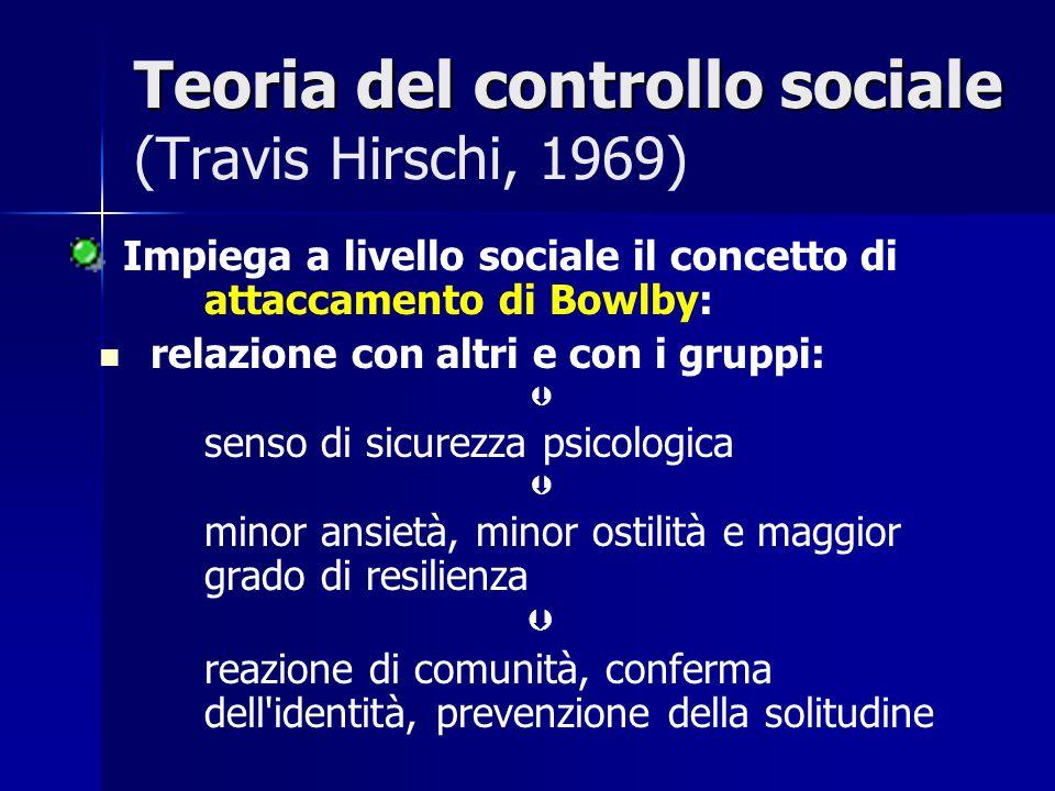 Teoria del controllo sociale (Travis Hirschi, 1969)