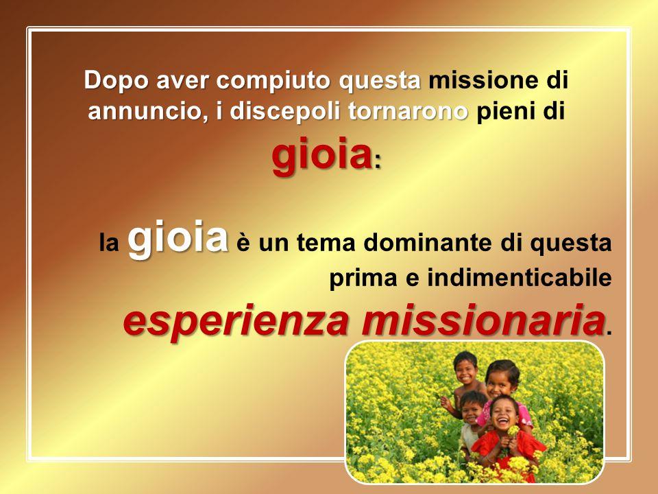 esperienza missionaria.