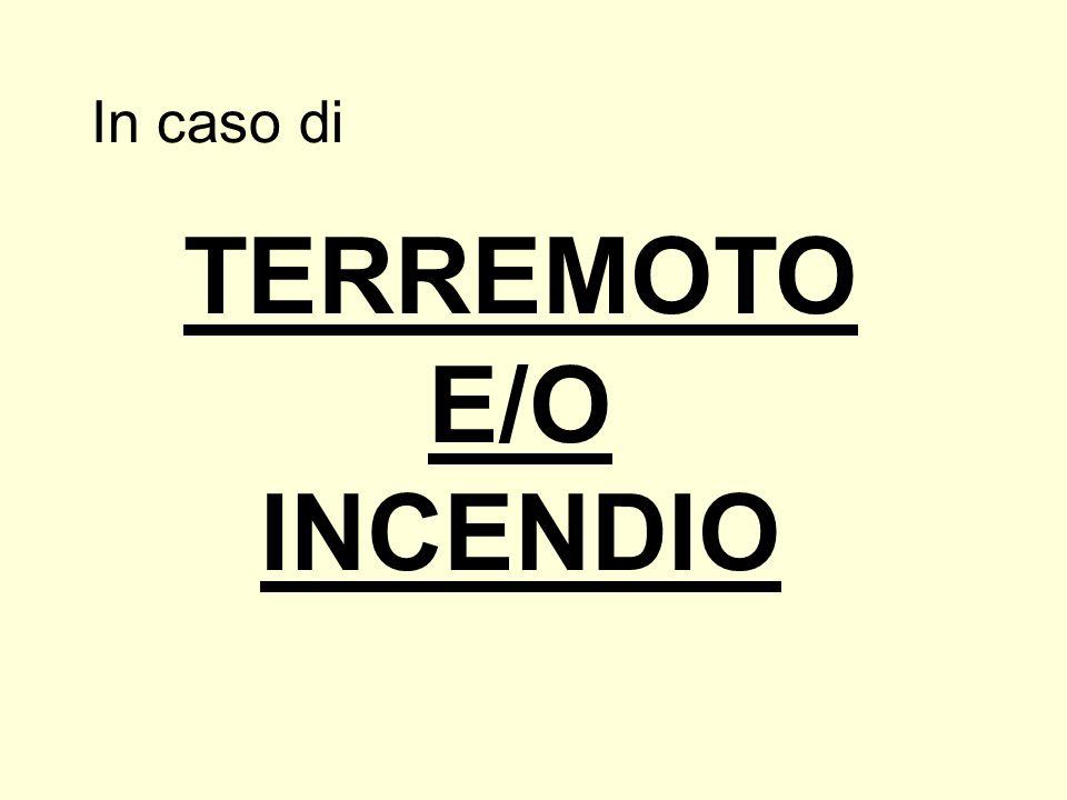 TERREMOTO E/O INCENDIO