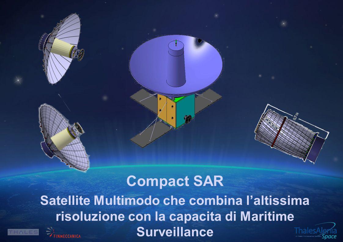 Compact SAR Satellite Multimodo che combina l'altissima risoluzione con la capacita di Maritime Surveillance.