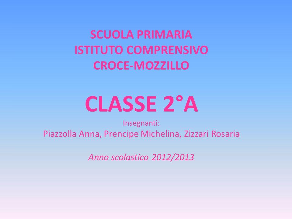 SCUOLA PRIMARIA ISTITUTO COMPRENSIVO CROCE-MOZZILLO CLASSE 2°A Insegnanti: Piazzolla Anna, Prencipe Michelina, Zizzari Rosaria Anno scolastico 2012/2013