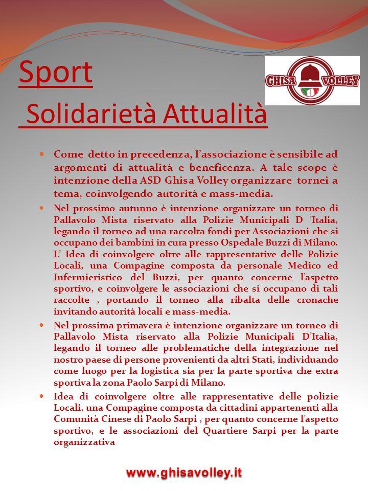 Sport Solidarietà Attualità