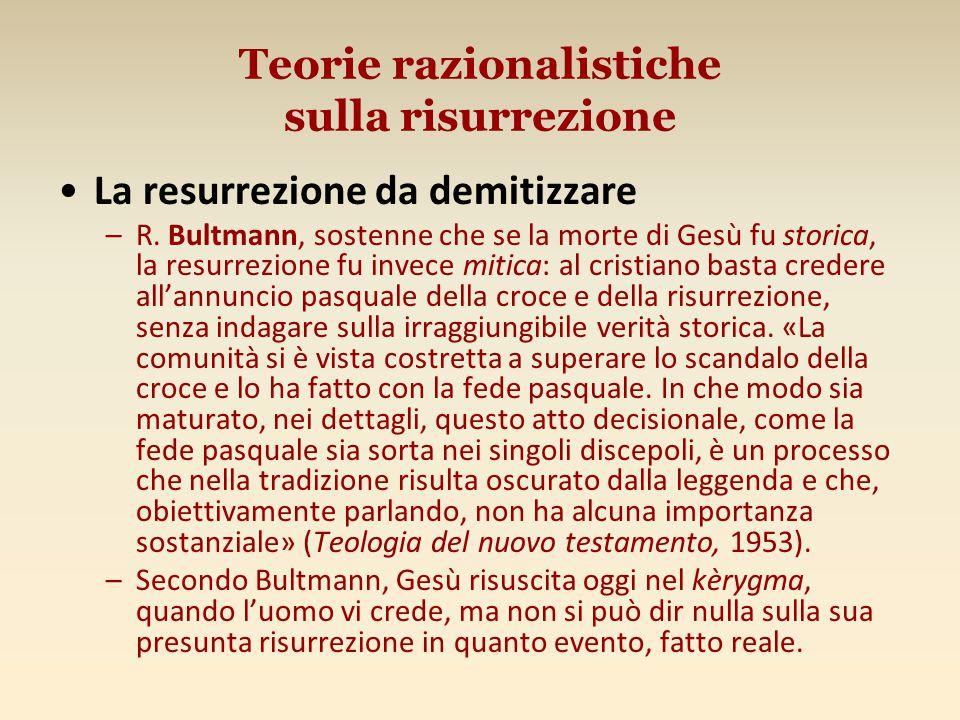 Teorie razionalistiche sulla risurrezione