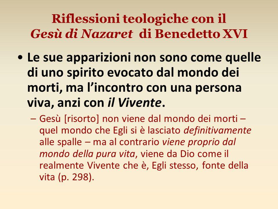 Riflessioni teologiche con il Gesù di Nazaret di Benedetto XVI