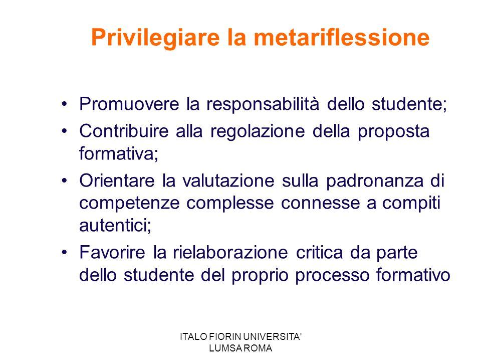 Privilegiare la metariflessione