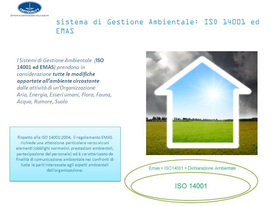sistema di Gestione Ambientale: ISO 14001 ed EMAS
