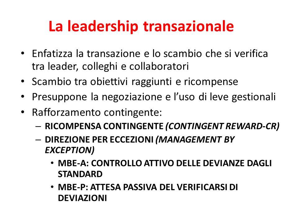 La leadership transazionale