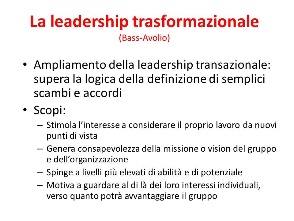 La leadership trasformazionale (Bass-Avolio)