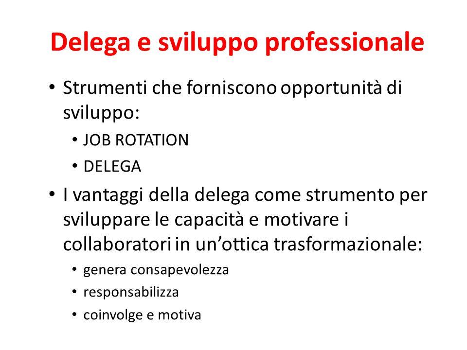 Delega e sviluppo professionale