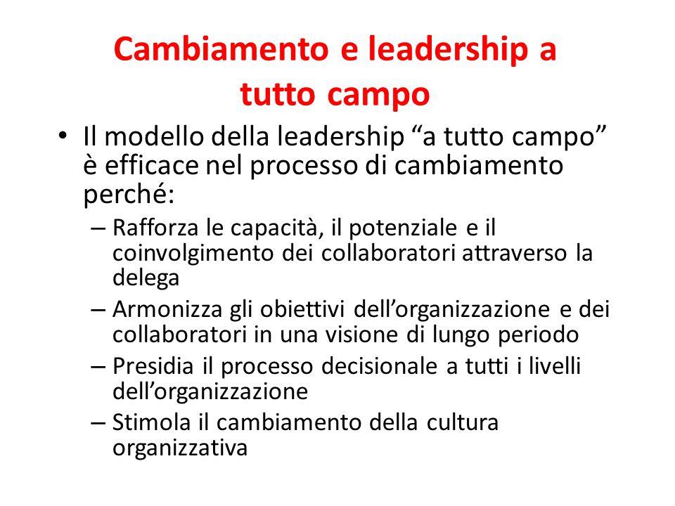 Cambiamento e leadership a tutto campo