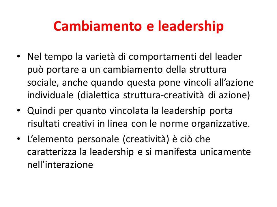 Cambiamento e leadership