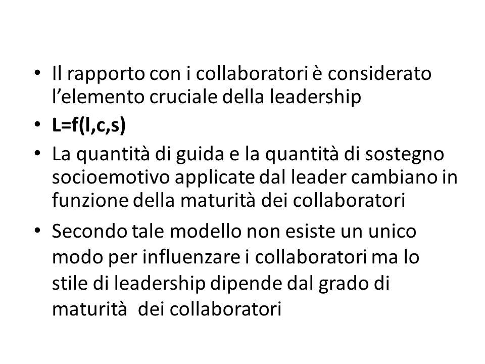 Il rapporto con i collaboratori è considerato l'elemento cruciale della leadership