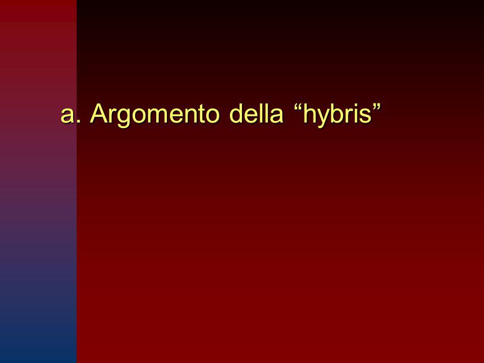 a. Argomento della hybris