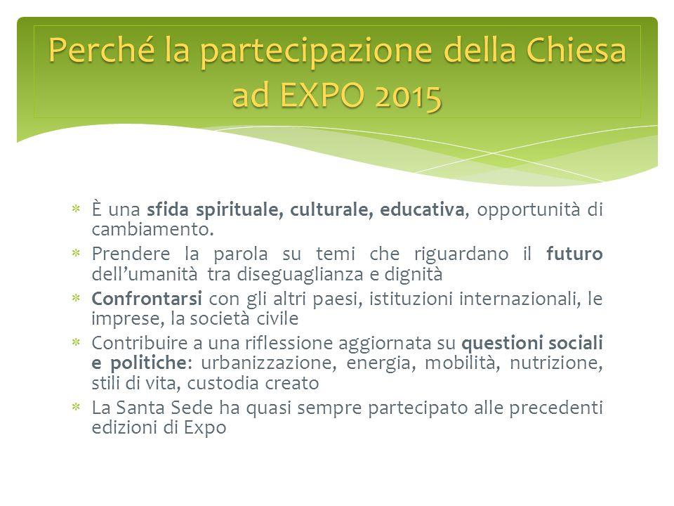 Perché la partecipazione della Chiesa ad EXPO 2015