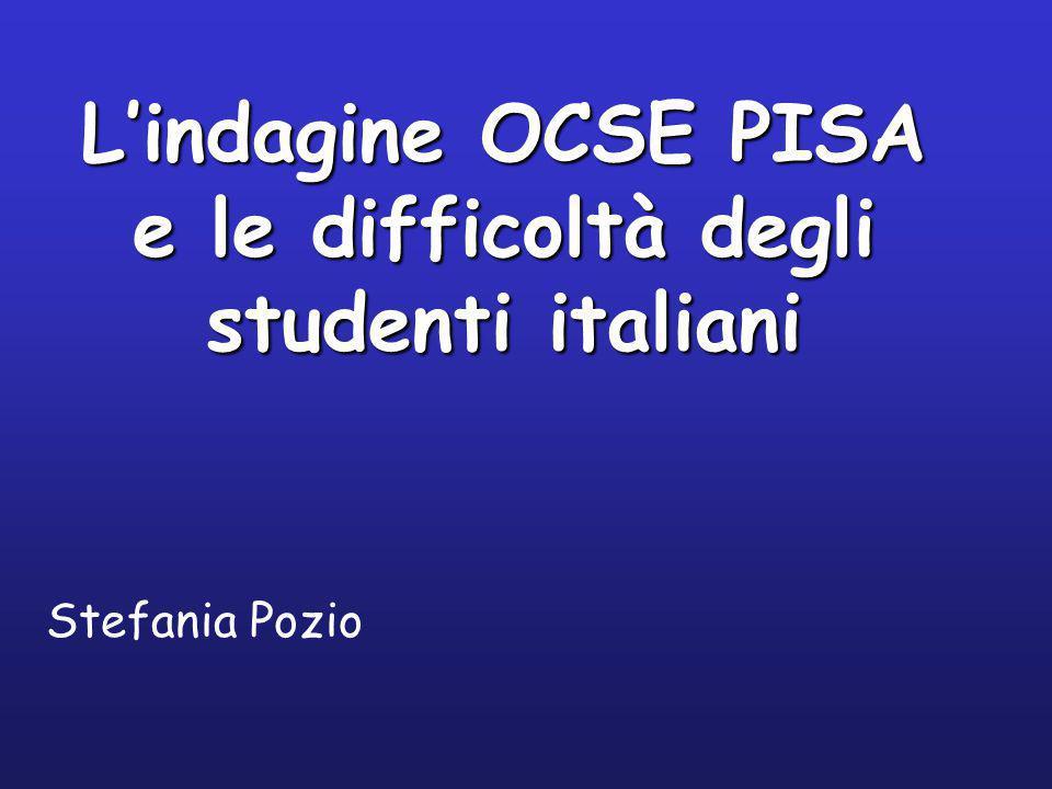 L'indagine OCSE PISA e le difficoltà degli studenti italiani