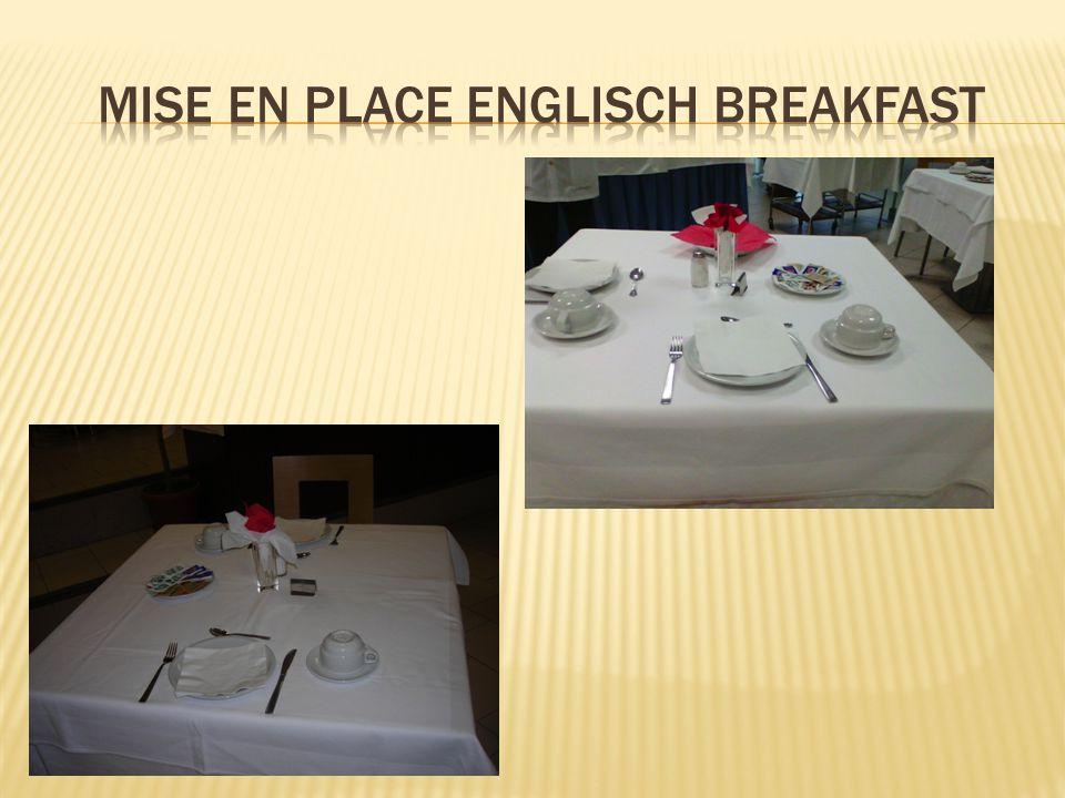 MISe EN PLACE ENGLISCH BREAKFAST