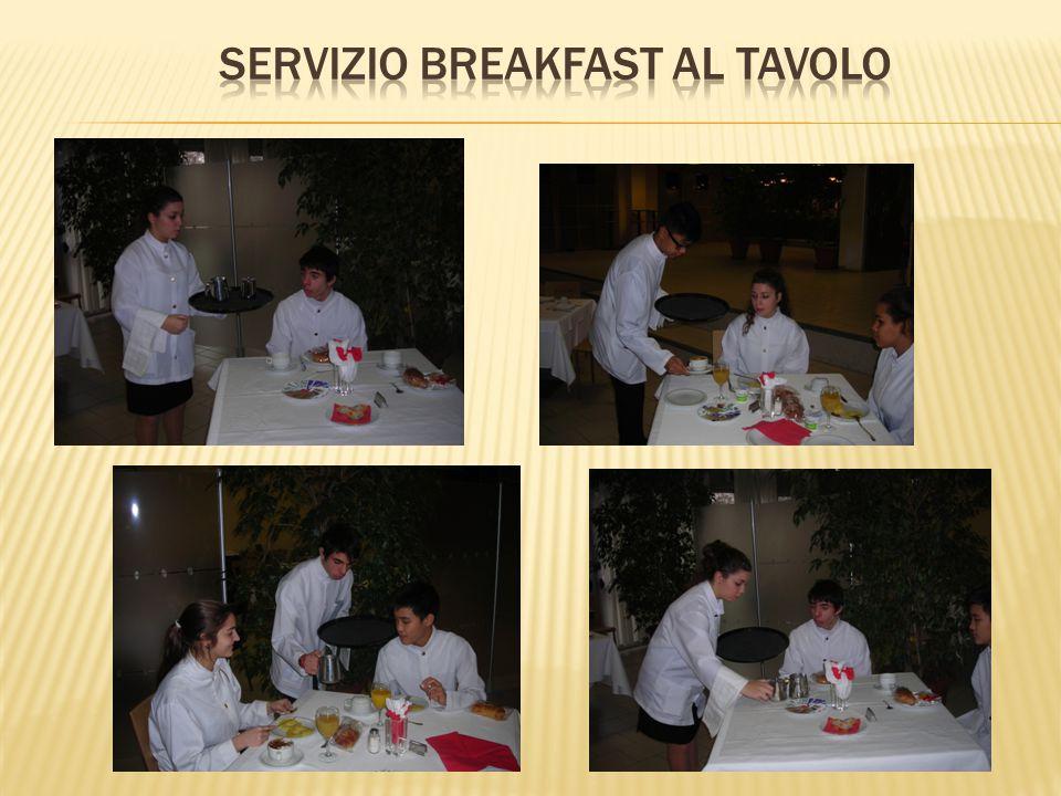 Servizio breakfast al tavolo