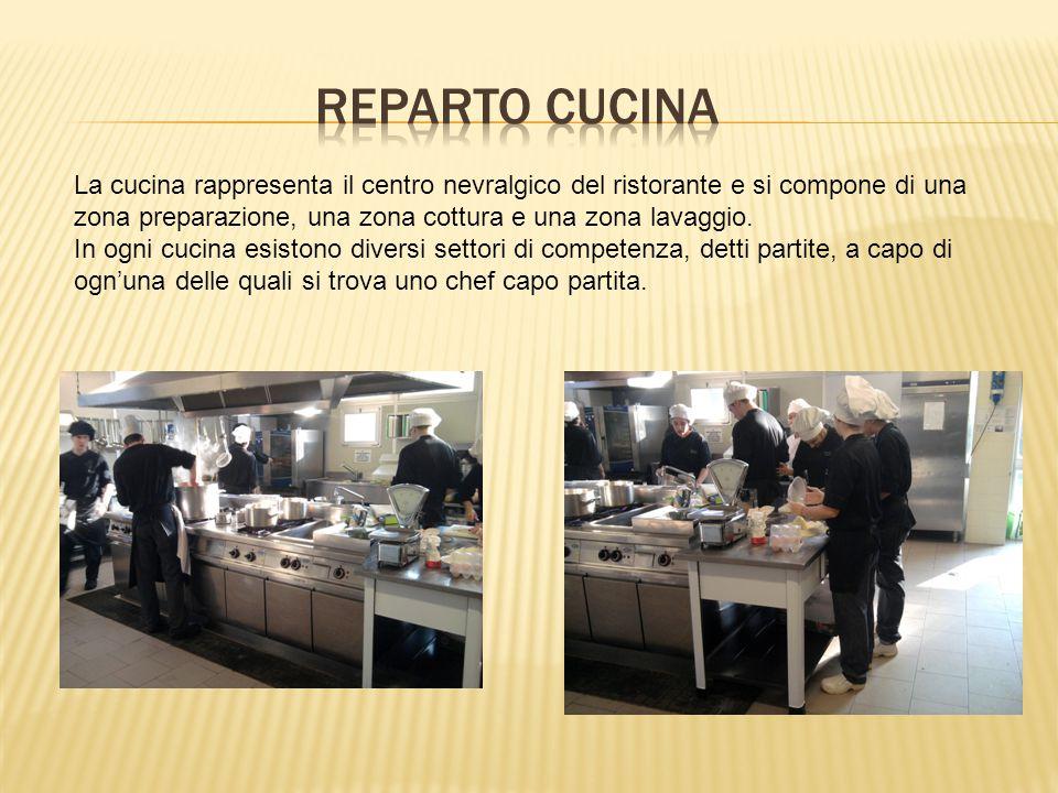 REPARTO CUCINA La cucina rappresenta il centro nevralgico del ristorante e si compone di una zona preparazione, una zona cottura e una zona lavaggio.