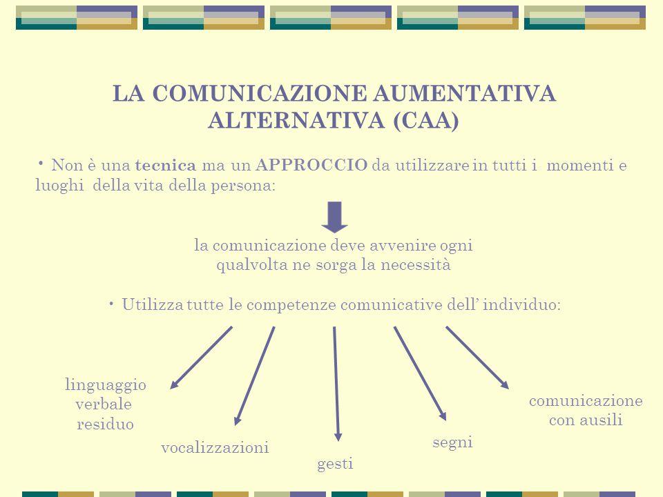 LA COMUNICAZIONE AUMENTATIVA ALTERNATIVA (CAA)
