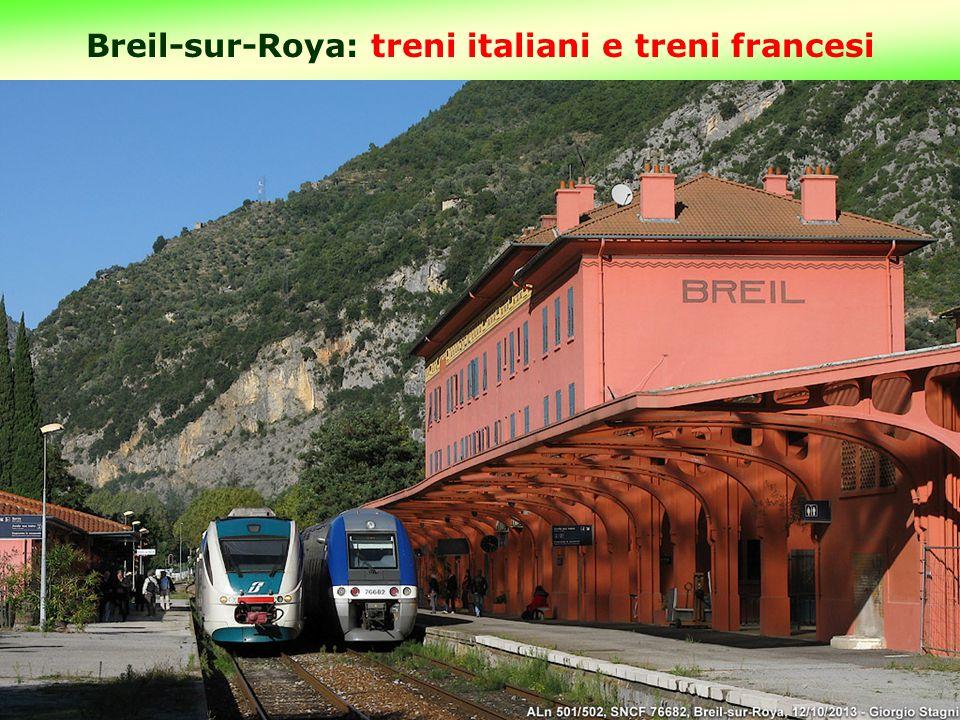 Breil-sur-Roya: treni italiani e treni francesi