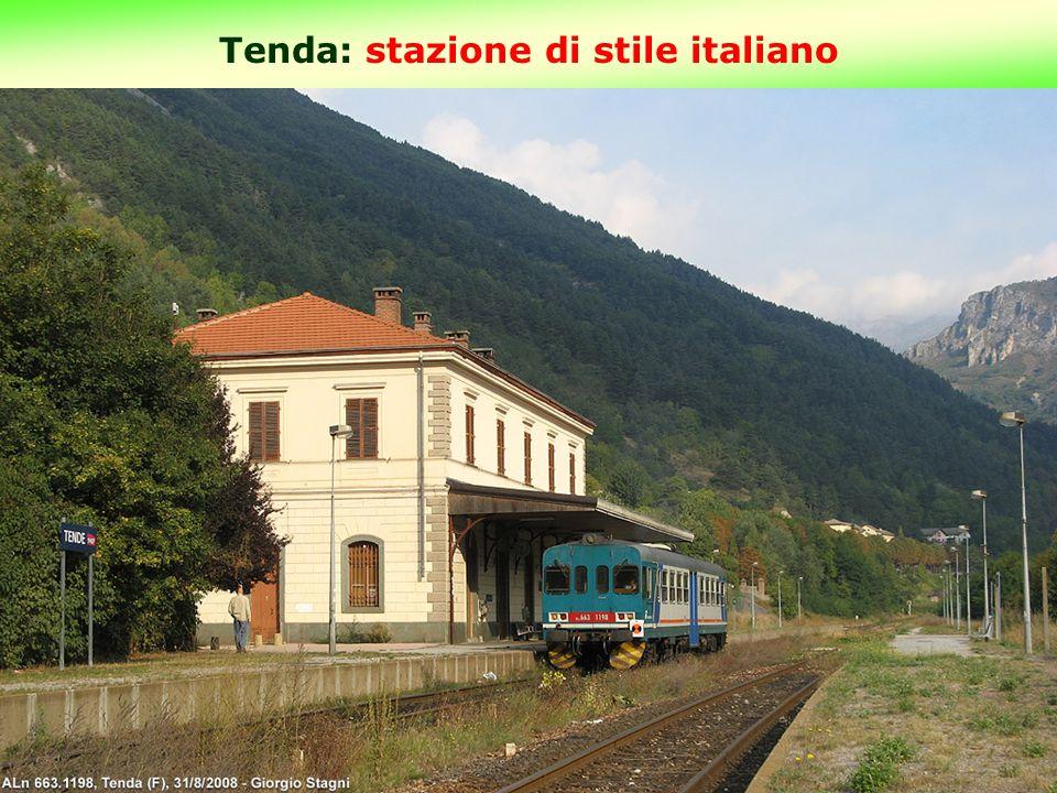 Tenda: stazione di stile italiano