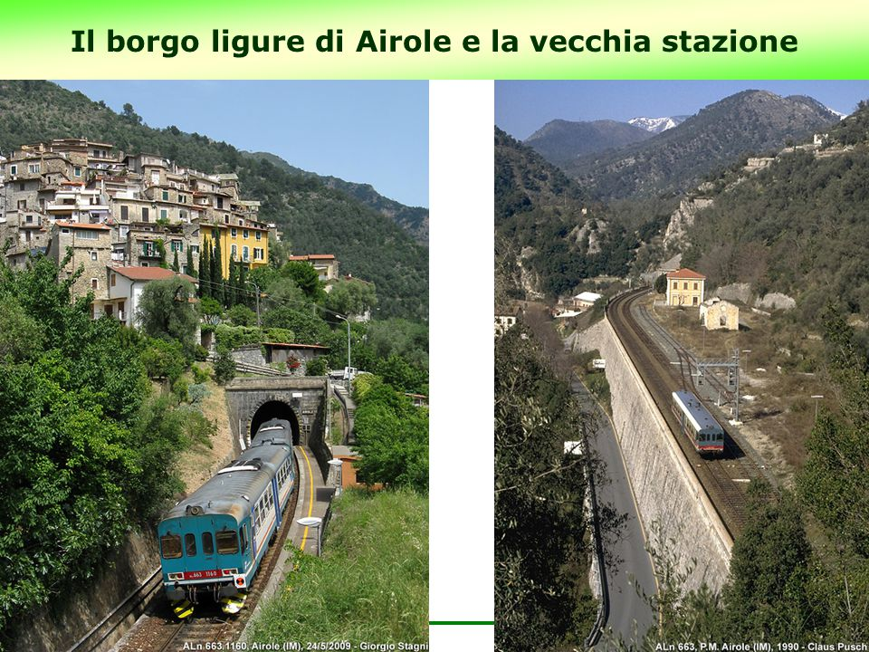 Il borgo ligure di Airole e la vecchia stazione