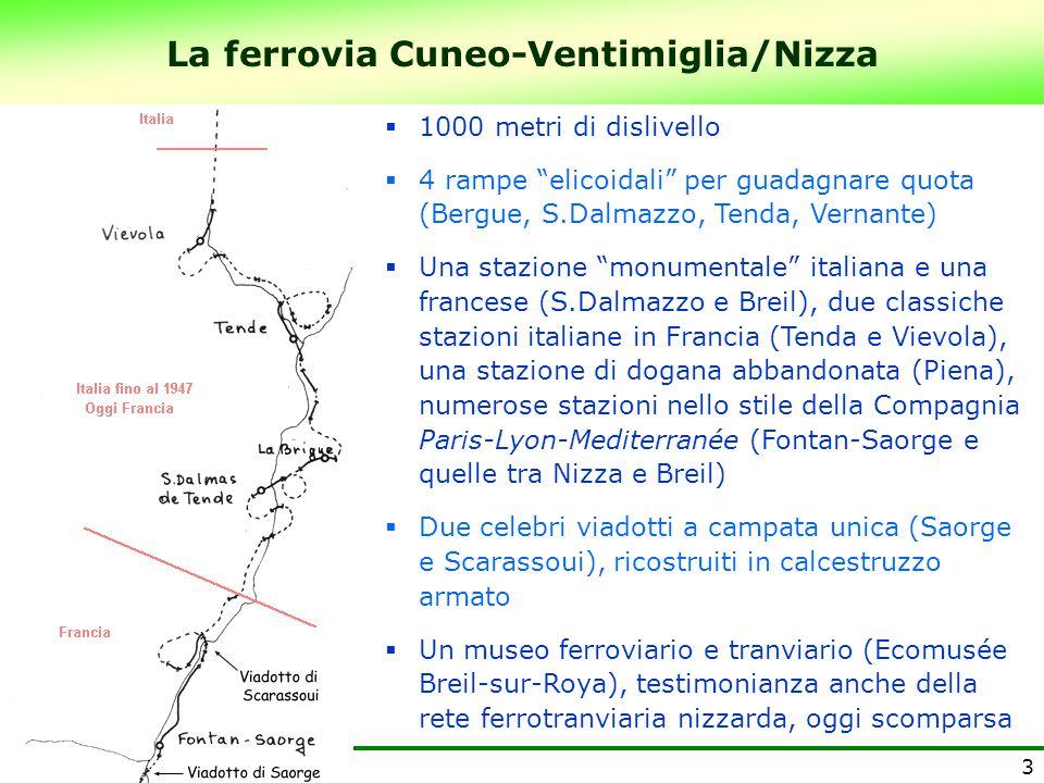 La ferrovia Cuneo-Ventimiglia/Nizza