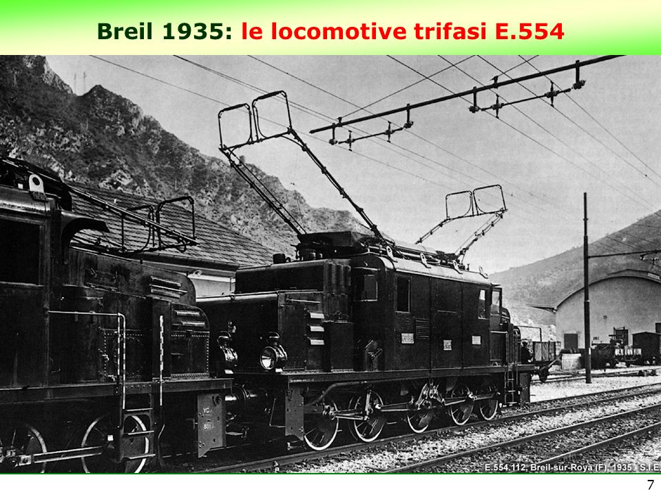 Breil 1935: le locomotive trifasi E.554