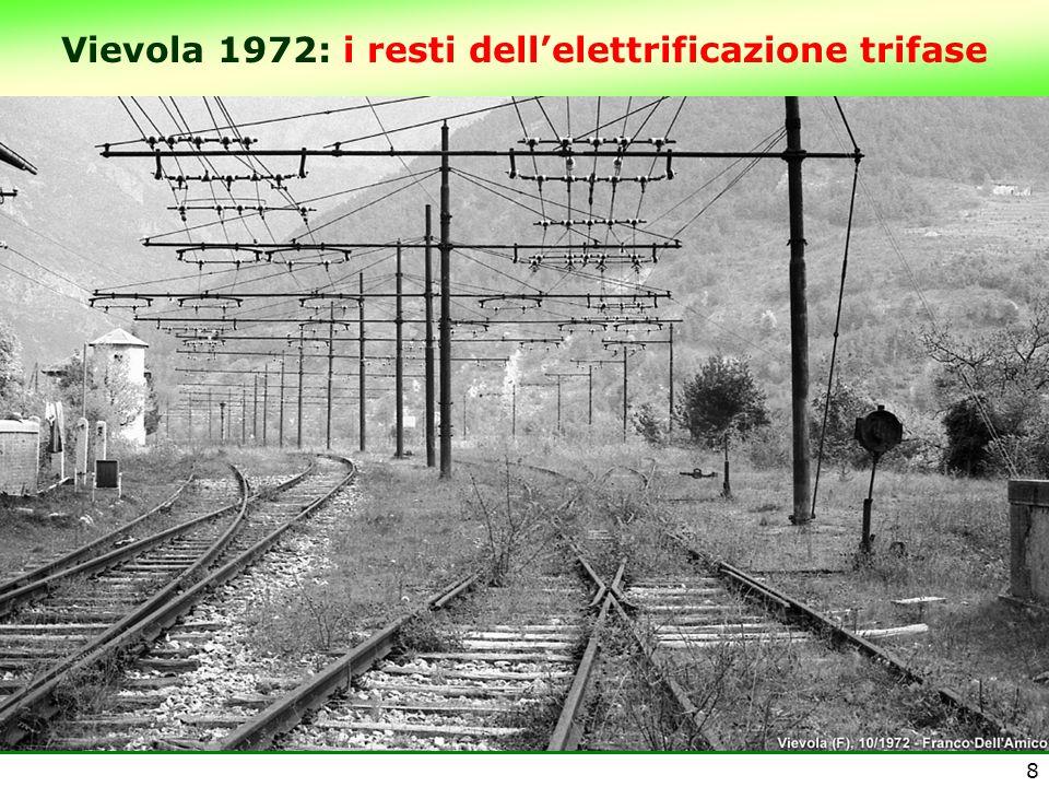 Vievola 1972: i resti dell'elettrificazione trifase