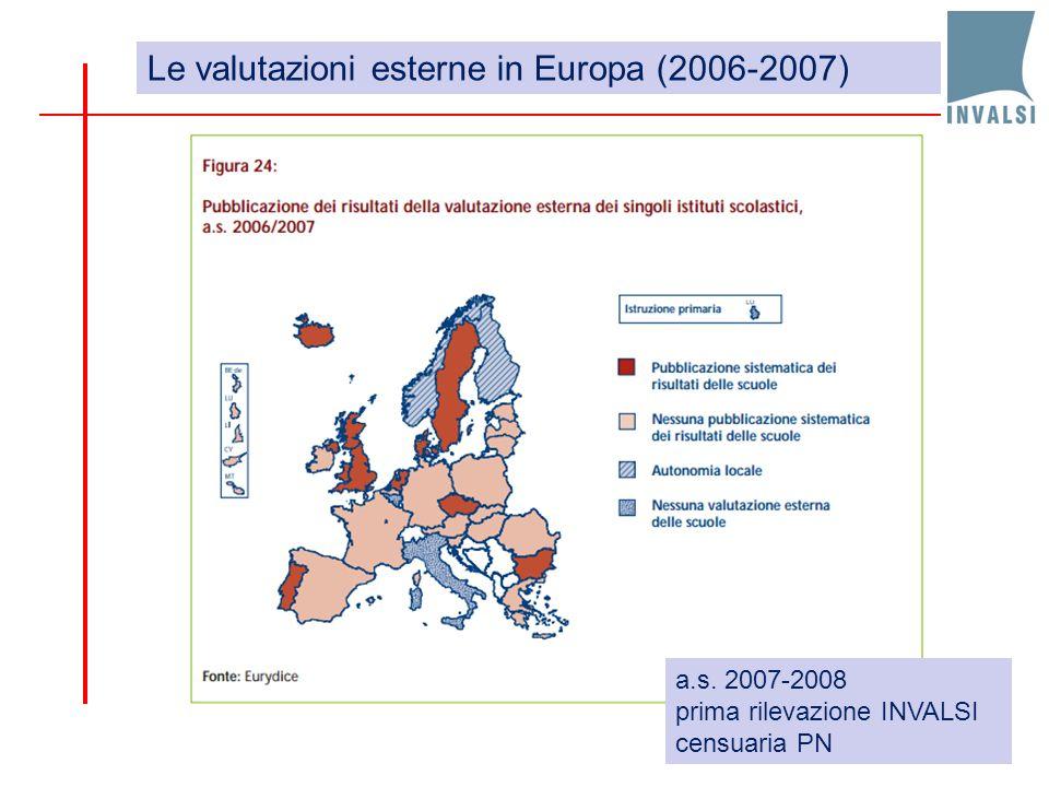 Le valutazioni esterne in Europa (2006-2007)