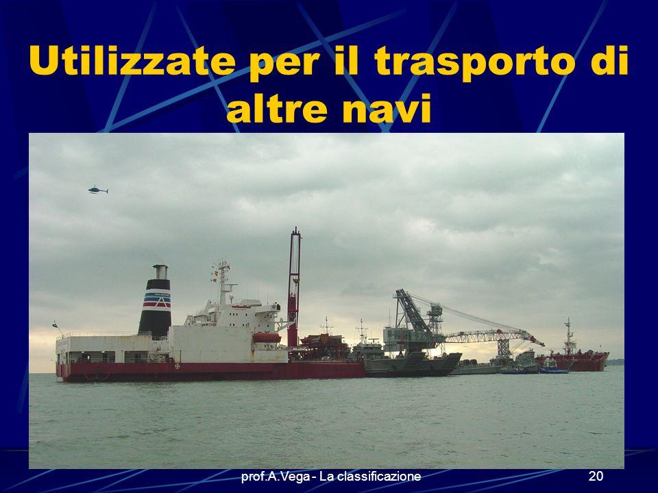 Utilizzate per il trasporto di altre navi
