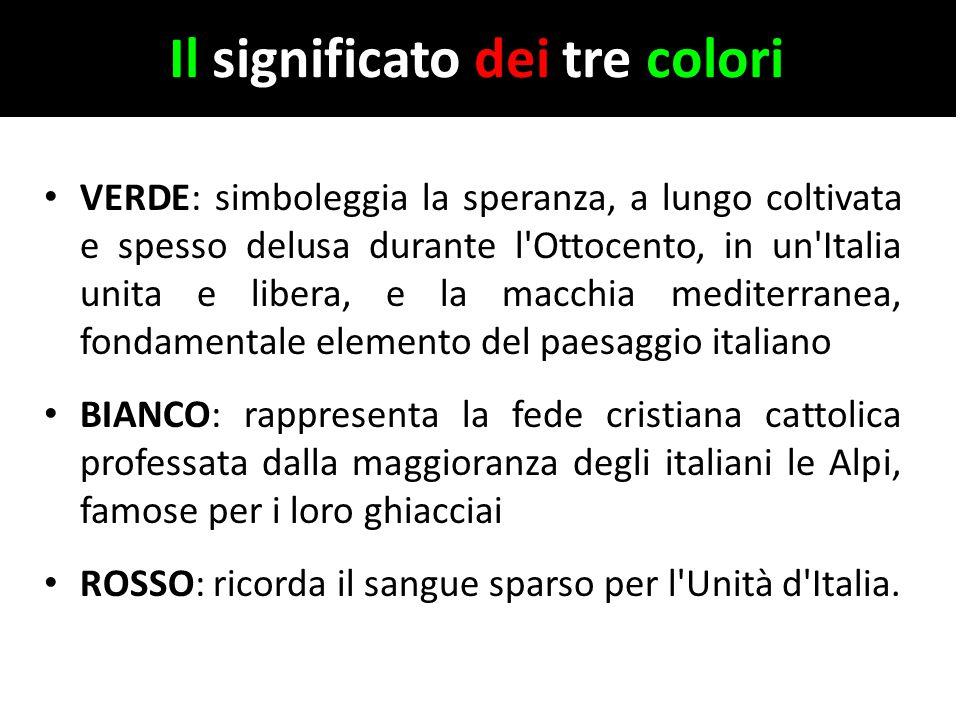 Il significato dei tre colori
